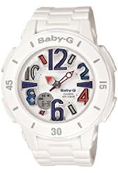 Casio Women's BGA170-7B2 Baby-G Shock Resistant White Resin Analog Watch