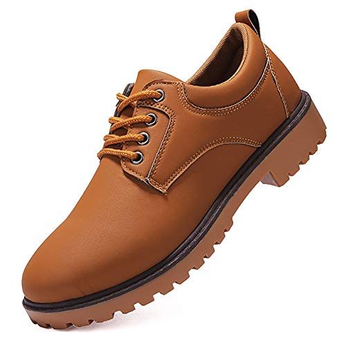 KUIBU Men's Low-Cut Work Boots Lace up Anti-Slip Waterproof Hiking Martin Boots Dress Casual Oxford Shoes ()