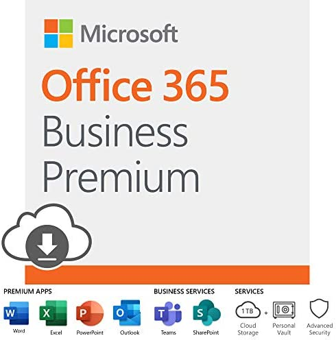 Microsoft Business 12 month subscription Download product image