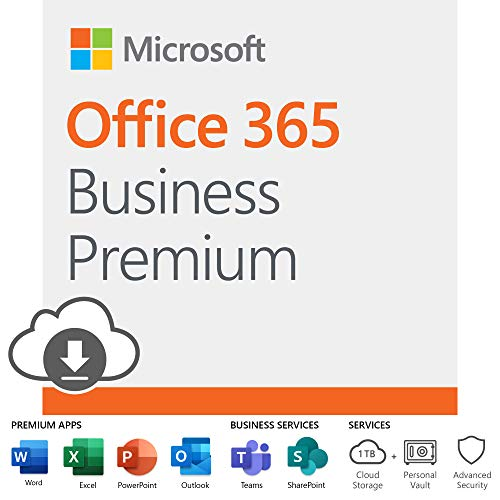 Microsoft Office 365 Business Premium | 12-month subscription, 1 person, PC/Mac Download (Microsoft 365 Key)