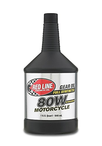 Red Line 42704 80W Motorcycle Gear Oil, 1 Quart, 1 Pack