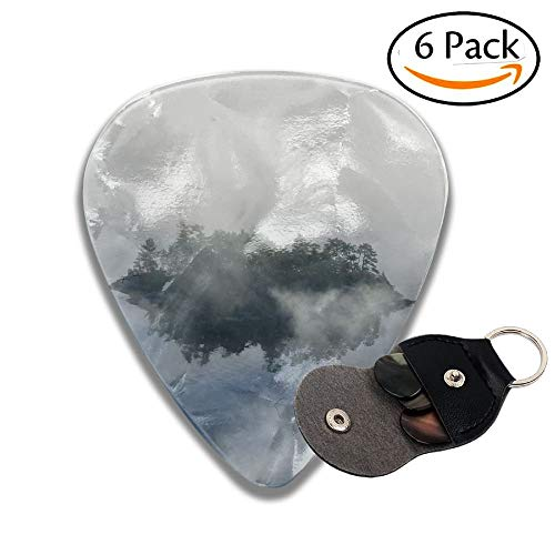 Aerial View Of Fog In Autumn Over Islands And Hills North Of Portland Maine Colorful Celluloid Guitar Picks Plectrums For Guitar Bass .6 Pack 71mm ()