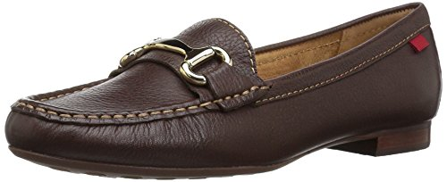 Marc Joseph New York Women's Grand Street Driving Style Loafer Brown Grainy