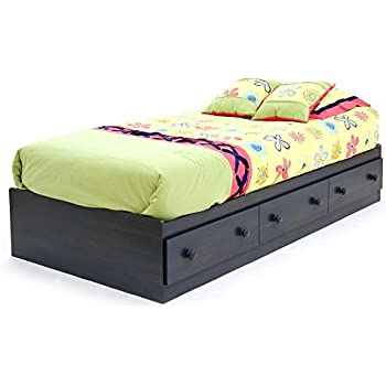 twin platform bed with drawers. south shore summer breeze collection twin bed storage - platform 3 drawers blueberry with