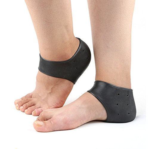 [AP Shop, 2Pcs Silicone Moisturizing Gel Heel Socks Like Cracked Foot Skin Care Protector Feet Massager Foot Pain Relief.(Black] (3 Ninjas Kick Back Costume)