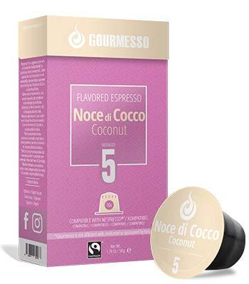 Gourmesso Soffio Noce di Cocco (Coconut) - 100 Espresso Capsules Comptaible with Nespresso Machines 100% Fairtrade Coffee