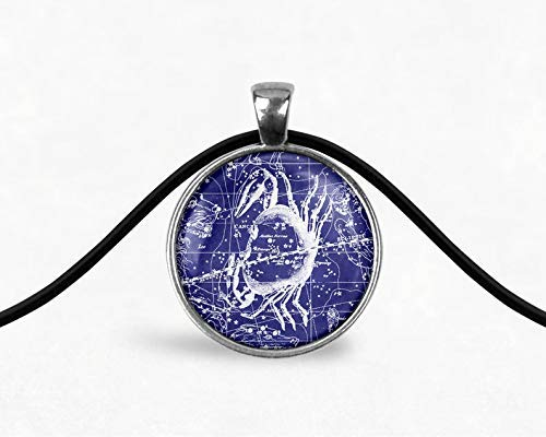Amazon Com Cancer Constellation Star Map Cord Necklace Cancer