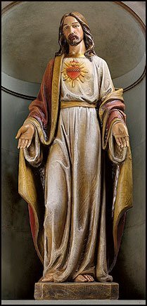 Avalon Gallery The Most Sacred Heart of Jesus Christ Resin Church Size Statue, 48 Inch