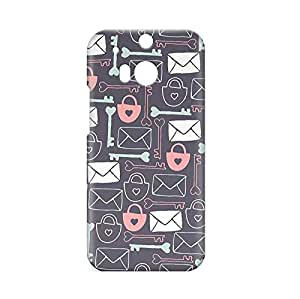Love Lock HTC One M8 3D wrap around Case - Design 1