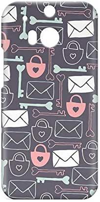 Love Lock HTC One M8 3D wrap around Case - Design 1