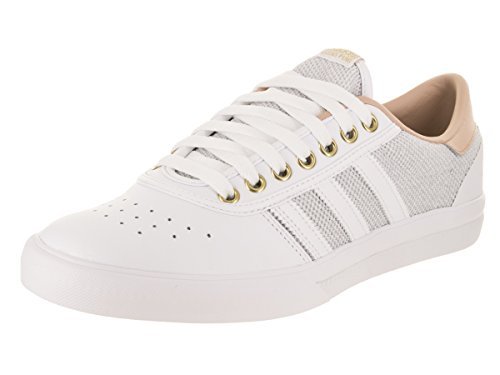 adidas Mens Lucas Premiere Skate Shoe White/Ash Pearl/Gold Metallic