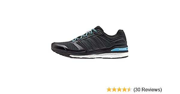 info for 5171a b9e95 Amazon.com   adidas Running Women s Supernova Sequence Boost 8  Black Black Cyan Athletic Shoe   Road Running