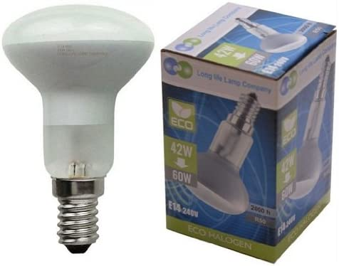 R50 Reflector Halogen Energy Saving 60W Light Bulbs E14 Edison Se Pack Of 2