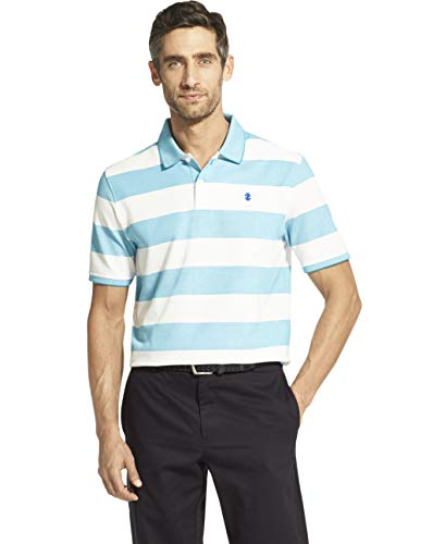IZOD Men's Advantage Performance Short Sleeve Stripe Polo, Legacy Caneel Bay S2019, X-Large ()