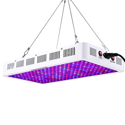 Growstar 1000W LED Grow Light Full Spectrum for Dense Flowers/Hydroponics/Indoor Veg/Greenhouse(12 Bands,5Wx200pcs Leds) by Growstar