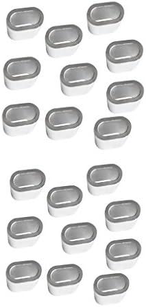 Shiwaki 20 Stücke Aluminium Kabelhülse Drahtseil SNARE WIRE 3mm Und 5mm