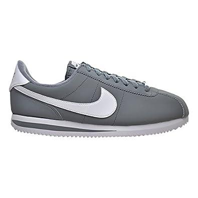 Nike Cortez Basic NBK Shoes Cool Grey / White / Metallic Silve Men's Shoes Grey/White/Metallic Silve