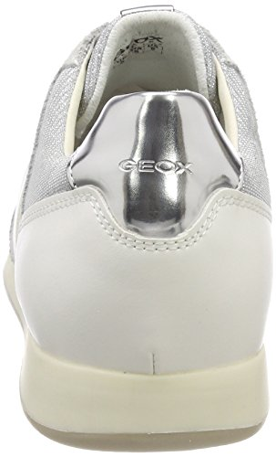 off Deynna Sneakers silver Gris Geox D Femme White Basses D gPxqw07