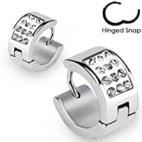 316L\x20Surgical\x20Stainless\x20Steel\x20Hoop\x20Earring\x20with\x20Paved\x20Multi\x20Clear\x20Gems
