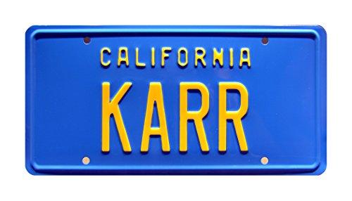 (Celebrity Machines Knight Rider | KARR | Metal Stamped License)