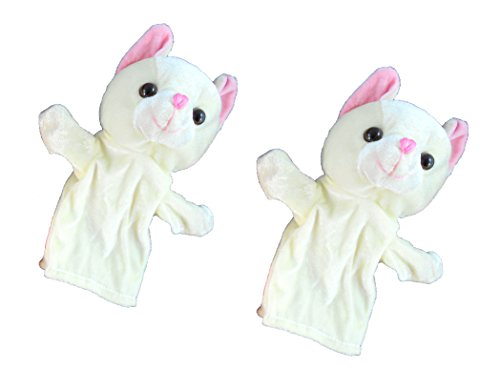 Pack of Two Plush Kitty Hand Puppets