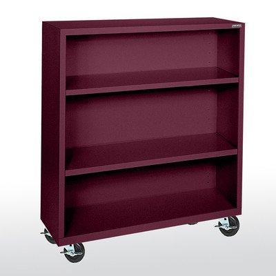 Metal Mobile Bookcase (Sandusky Lee BM20361842-03 Elite Series Welded Mobile Bookcase, 18