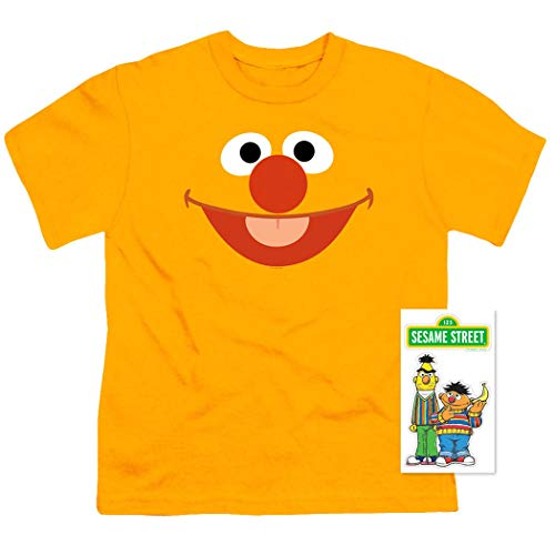 Youth Sesame Street Ernie Face T Shirt for Boys (Medium) Orange