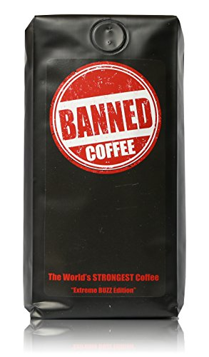 Banned Coffee Whole Bean World's most delicious Strongest Coffee - Our Best Medium Dark Roast - 1 LB Bag (Los Angeles Gift Basket)