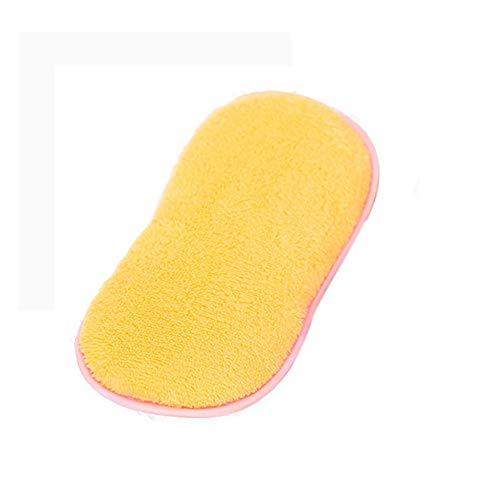 Double Sided Tab Dispenser - Buyeverything Dishwashing Sponge Microfiber Cloth Towel Magic Kitchen Cleaning Wiping Rags Food-Grade Antibacterial Dish Brush Scrubber Wash Pot Pan Dish Bowl Tool Dishwasher (Yellow)