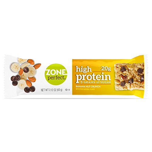 ZonePerfect High Protein Nutrition Snack Bars, Banana Nut Crunch, 2.12 oz bars (16 Bars) ()