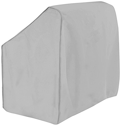 - Boat Center Console Cover, 600D Marine Grade Polyester Canvas, Waterproof, Grey (Large)