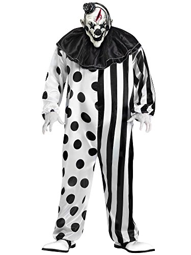 Fun World Unisex-Adult's Plsz Killer Clown Cstm, Multi, Plus Size ()