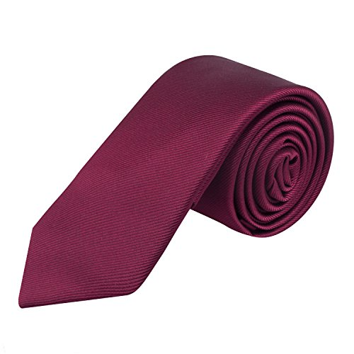- Skinny Tie 6cm Necktie by Alizeal, Great for Weddings Groom, Maroon