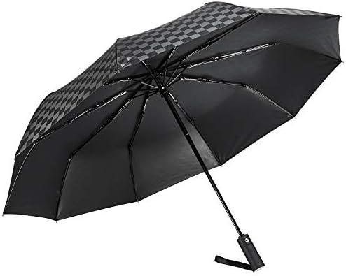 [해외]접는 우산 망 깨지지 않는 10 개의 뼈 자동 개폐 UV 컷 커튼 100 FASAZ 엄 남성용 양산 118cm 큰 Teflon 가공 바람에 강한 210T 고 강도 유리 섬유 내 바람 방수 수납 파우치 (블랙) / Folding Umbrella Men`s Sturdy 10 Pcs Automatic Opening and ...
