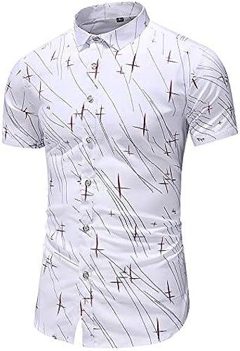 Camisa Oxford de Manga Corta para Hombre, Estilo Informal ...