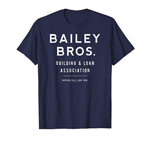 Mens It's a Wonderful Life Bailey Bros. T-shirt 2XL Navy