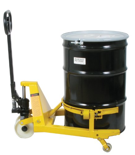 Wesco Industrial Products 273250 Pallet Truck Drum Lifter, Nylon Steering Wheels, 660 lb. Capacity, 28-1/2