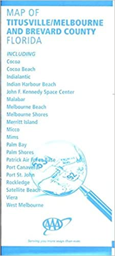 Brevard County Florida Map.Map Of Titusville Melbourne And Brevard County Florida Including