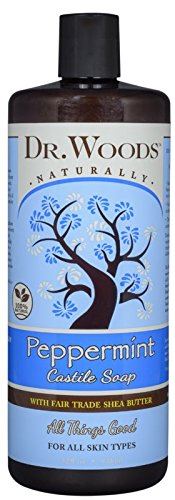 (Dr. Woods Pure Peppermint Liquid Castile Soap with Organic Shea Butter, 32 Ounce)