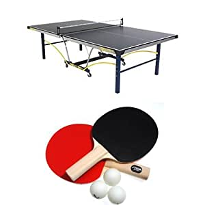STIGA Triumph Table Tennis Table Bundle with Rackets and Balls, 2-Player Set