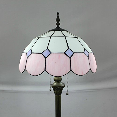 Tiffany 16-Inch Mediterranean European Pastoral Style Elegant Luxury Creative Handmade Stained Glass Tiffany Floor Lamp - - Table Renaissance Lamp Style