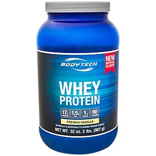 BodyTech Whey Protein Powder with 17 Grams of Protein per Serving Amino Acids Ideal for PostWorkout Muscle Building, Contains Milk Soy Vanilla (2 Pound)