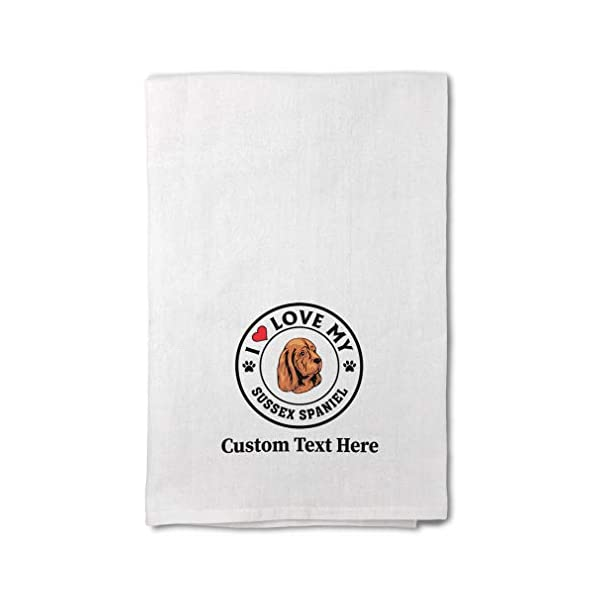 Custom Decor Flour Kitchen Towels I Love My Sussex Spaniel Dog Style A Pets Dogs Cleaning Supplies Dish Towels Design Only 1