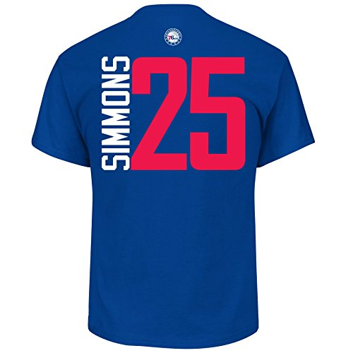 (Ben Simmons Philadelphia 76ers #25 NBA Men's Vertical Player T-shirt (XX-Large))