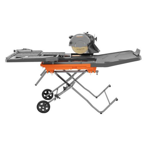Ridgid ZRR4092 15 Amp 10 In. Wet Tile Saw With Stand (Certified Refurbished)