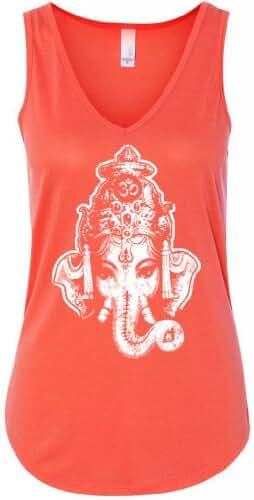 Yoga Clothing For You Ladies Ganesha Head Flowy Tank Top