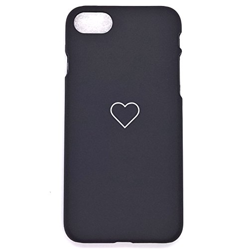 Apple iPhone 8 Case, iPhone 7 Case Luxury Cute Heart Shockproof Slim PC Phone Case Cover Skin for Apple iPhone 8 7 (Black, iPhone 8 7 -