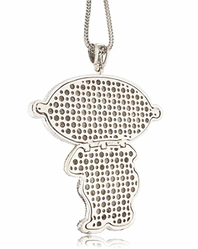 Iced out silver family guy stewie xl pendant w 30 36 franco save aloadofball Images