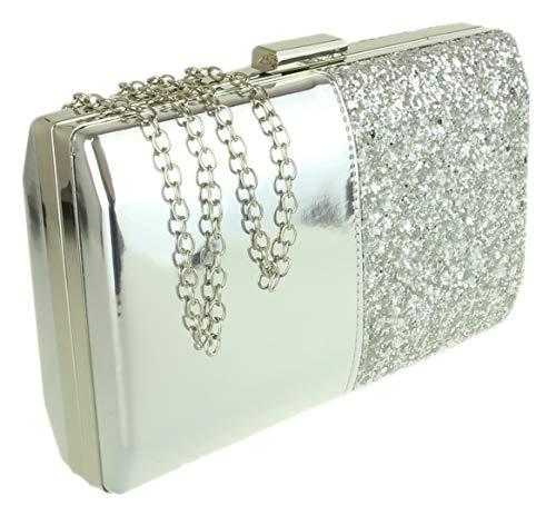 Silver Bag Girly Clutch HandBags Glossy Girly Glitter HandBags 4Yx008