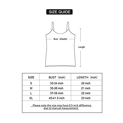 AMVELOP Adjustable Womens Camisole Spaghetti Strap Tank Top Camis at Women's Clothing store